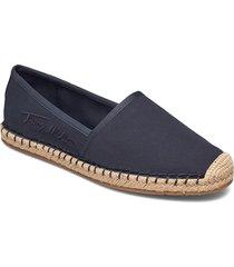 th signature espadrille sandaletter expadrilles låga blå tommy hilfiger