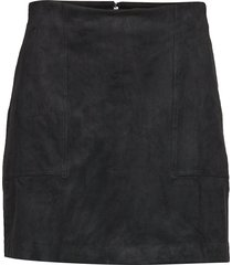 vegan suede mini skirt kort kjol svart banana republic