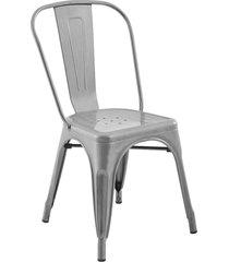 conjunto 06 cadeiras iron cinza rivatti - cinza - dafiti