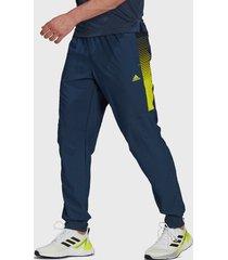 pantalón adidas performance m sl wv c pt azul - calce regular