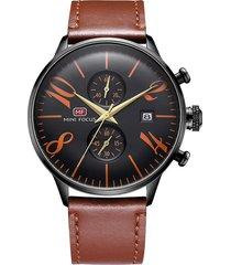 reloj análogo f0135gl-3 hombre café
