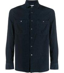 aspesi new c slim-fit corduroy shirt - blue