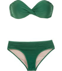 adriana degreas sleeveless bikini set - green