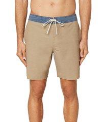 men's o'neill staple cruzer board shorts, size 34 - brown