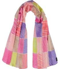 women's doodle-inspired block scarf