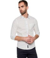 camisa blanco-elastano americanino