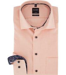olymp modern fit overhemd oranje borstzak