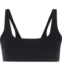 gloria coelho square neck bikini top - black