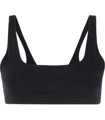 gloria coelho square neck bikini top - black