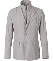 overlay technical blazer