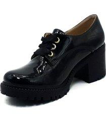 zapato  bolichero zavatty negro-charol para mujer, modelo ta236