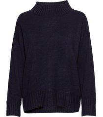 high neck sweater gebreide trui blauw davida cashmere