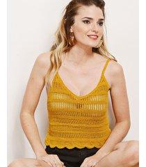 top mostaza nuevas historias tejido crochet lp10-52