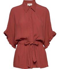 ariana shirt boozt blouses short-sleeved rood minus