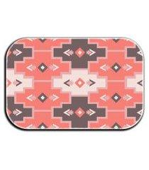 tapete decorativo lar doce lar formas 40cm x 60cm rosa