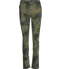 dhray high custom slimmade jeans grön denim hunter