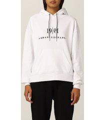 armani collezioni armani exchange sweatshirt hood logo 1991