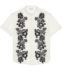 saint laurent short-sleeved shirt