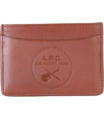 a.p.c. card holder with logo