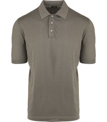man classic polo shirt in stone cotton