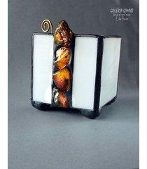 bursztynowy świecznik-lampion prezent oryginalny