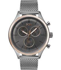 boss hugo boss men's chronograph companion stainless steel bracelet watch 42mm