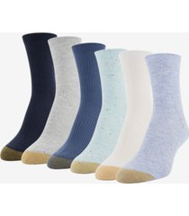 gold toe women's 6-pk. lola nep rib short crew socks