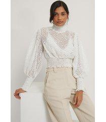 trendyol blus med kragdetalj - white