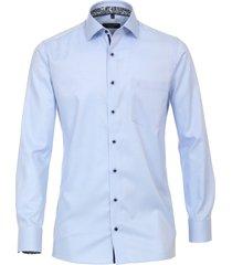 casamoda heren overhemd licht contrast boord kent modern fit