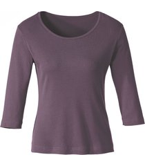 biokatoenen shirt met ronde hals, plum 36