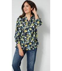 blouse janet & joyce marine::goudkleur