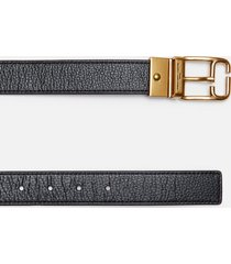 marc jacobs women's reversible belt - black/persian red - xs/s