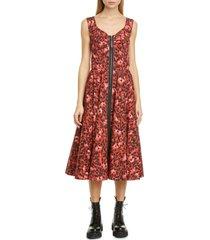 women's marni leopard print stretch cotton dress