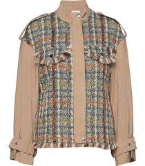 jacket in mix canvas and boucle wollen jack jack bruin coster copenhagen
