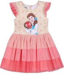 infant girl's pippa & julie x disney belle tiered dress