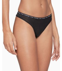 calvin klein women's ck one glisten thong underwear qf6526