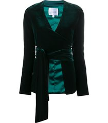 galvan winter sun velvet-effect jacket - green