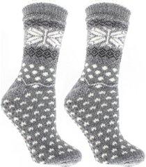 minxny women's non-skid double layer warm soft and fuzzy slipper socks, 3 piece
