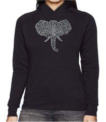 la pop art women's word art hooded sweatshirt -tusks