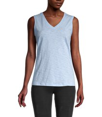 pure navy women's v-neck tank top - olive - size m