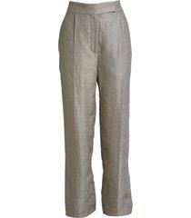 shiny linen palazzo pants