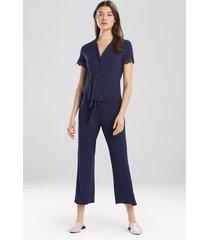 bardot essentials- josie jammie pajamas, women's, blue, size l natori