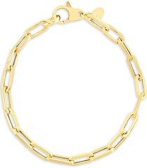 chloe & madison women's 14k yellow gold vermeil chain bracelet