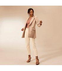 river island womens beige ri studio fitted blazer