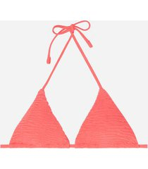calzedonia triangle string swimsuit top miami woman red size 1
