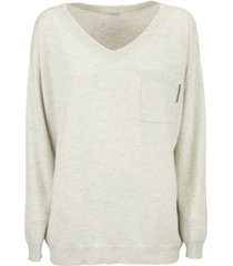 brunello cucinelli cashmere sweater with shiny tab