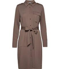 rory lipa dress knälång klänning brun mos mosh
