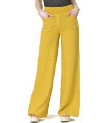 pantalón lino italiano amarillo bous
