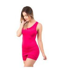 macaquinho saia feminino bella fiore modas liso rosa