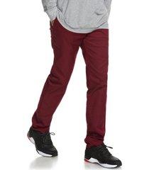 pantalon hombre worker straight rojo dc